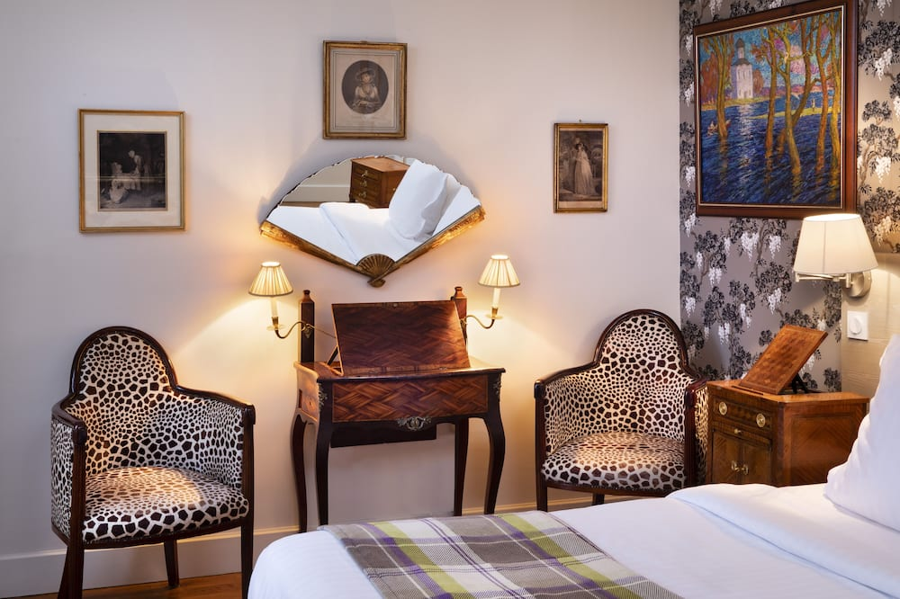 Izba typu Superior, výhľad na záhradu (Les Glycines) - Obývacie priestory