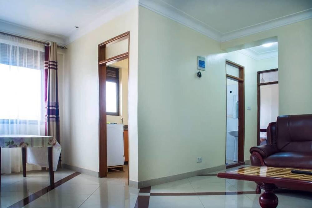Executive Studio, Kitchen, City View - Living Area