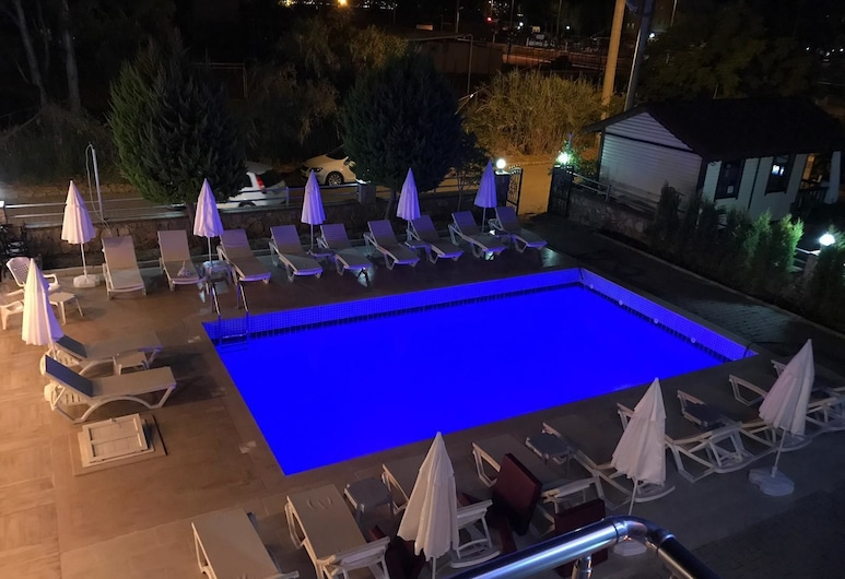 Sardunya Hotel, Fethiye, Standaard kamer, uitzicht op zwembad, Uitzicht vanaf balkon