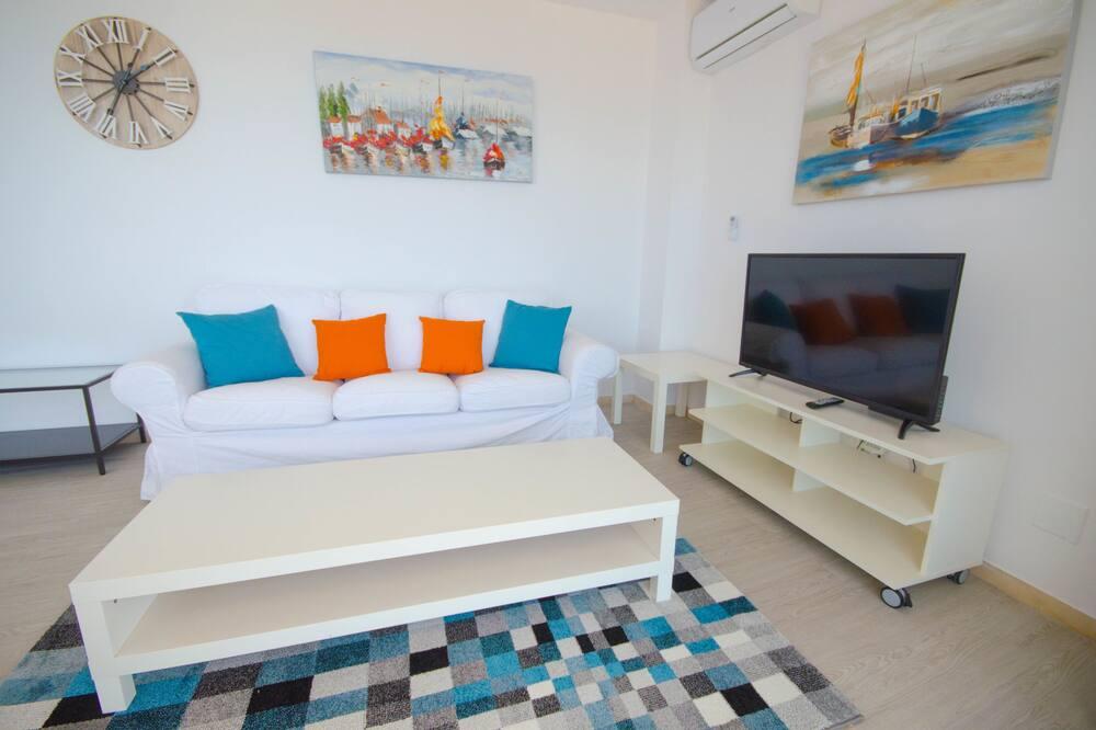 apartman, 3 hálószobával, kilátással a tengerre - Nappali rész