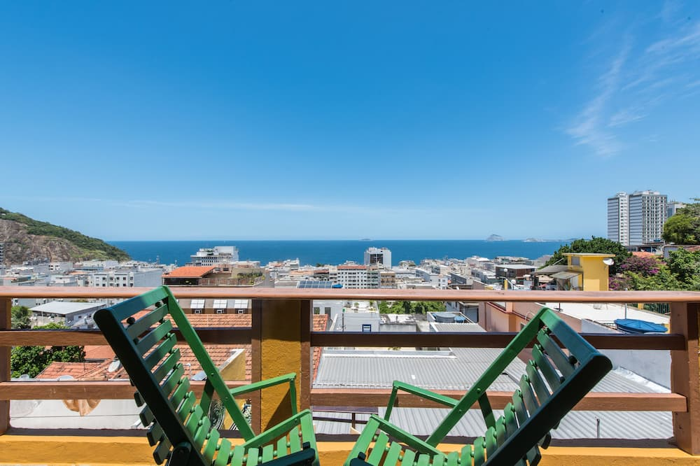 Tradiční ubytování v společné místnosti, výhled na moře (Vidigal) - Výhled z balkonu