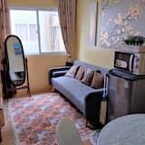 Appart'hôtel, 2 grands lits - Coin séjour