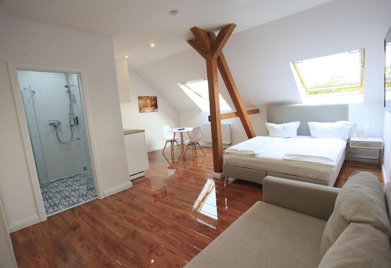 Zollikof Aparts - Sauna & Studioapartments, Leipzig, Departamento básico, Sala de estar