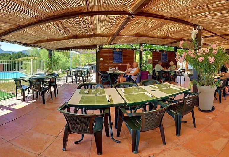 Camping des Rosieres, Rosans, Taras/patio