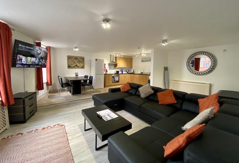 Simpson Beach View Apartments, Blackpool, Leilighet, Oppholdsområde