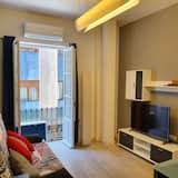 อพาร์ทเมนท์, เตียงใหญ่ 1 เตียง และโซฟาเบด - ห้องนั่งเล่น