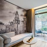 Chambre, vue jardin - Salle de séjour