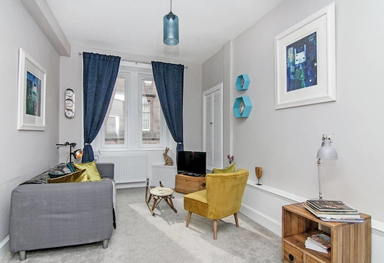 Old Town Stylish Apartment - Great Location!, Edinburgh, Appartement (1 Bedroom), Woonkamer