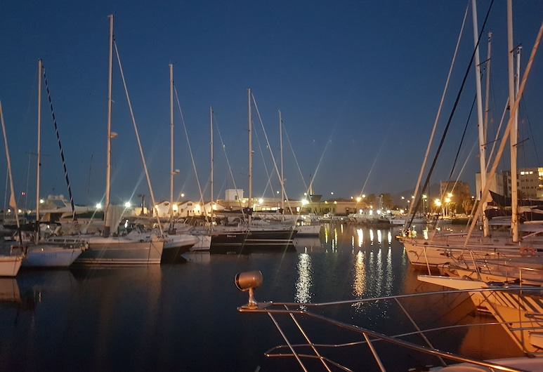 Desirè Charming House Boat, Palermo, Chatka, viacero postelí, výhľad na more, Výhľad z izby
