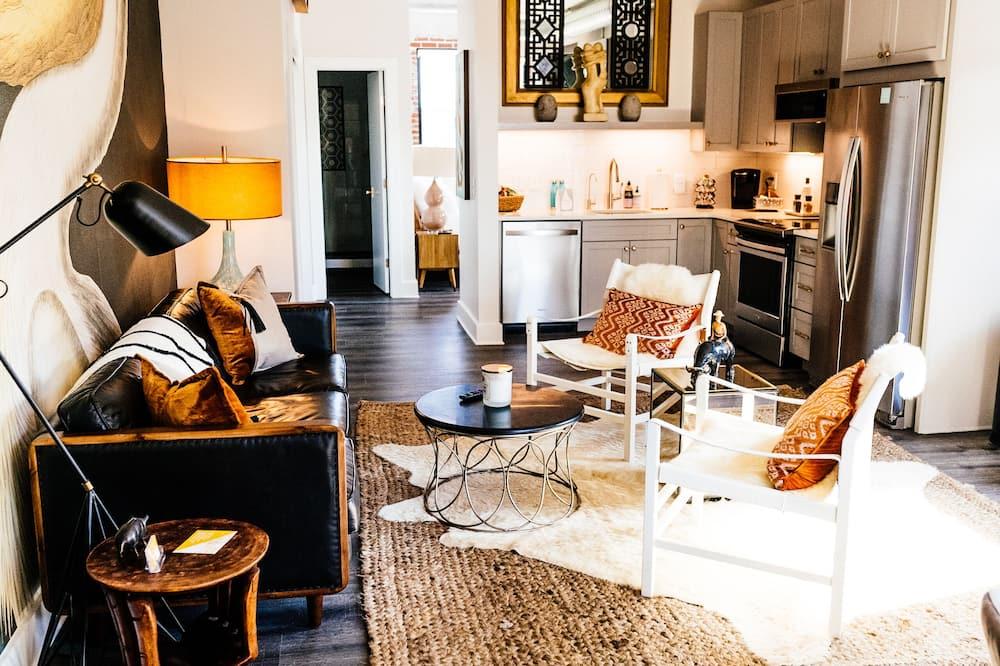 Suite Premier, 1 habitación, vista a la ciudad - Sala de estar