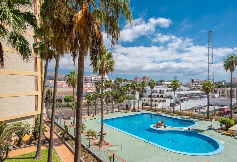 Y4F. Cute Flat! Next to the Beach Las Américas, Pool View, Arona, Piscina al aire libre