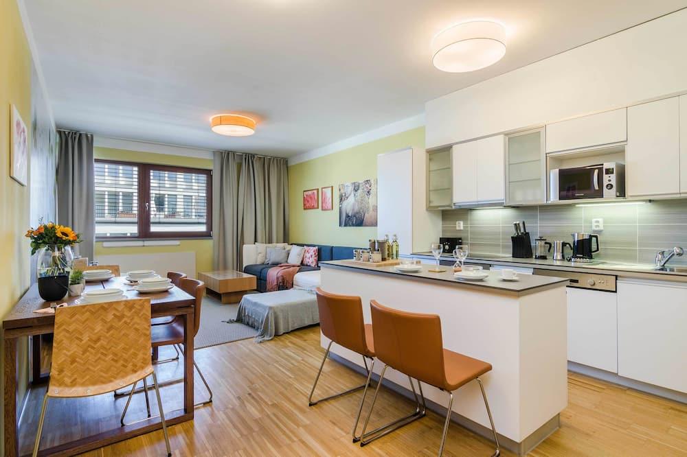 Deluxe-Apartment, Gartenblick - Wohnbereich