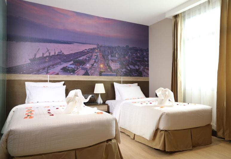 هوتل بالمي, يانجون, غرفة ديلوكس مزدوجة أو بسريرين منفصلين - سرير مزدوج أو سريران فرديان - مع خدمة الاستعلامات والإرشاد, غرفة نزلاء
