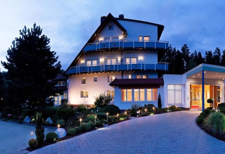 Romantik Hotel Rindenmühle, Villingen-Schwenningen, Fassaad õhtul/öösel