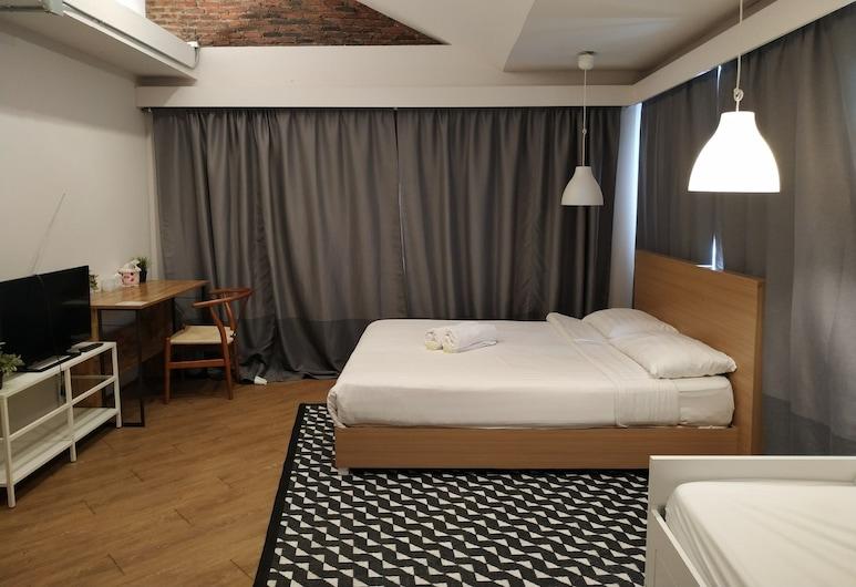 Siam Hubbiz Hostel, Bankokas, Superior Double Room, Svečių kambarys