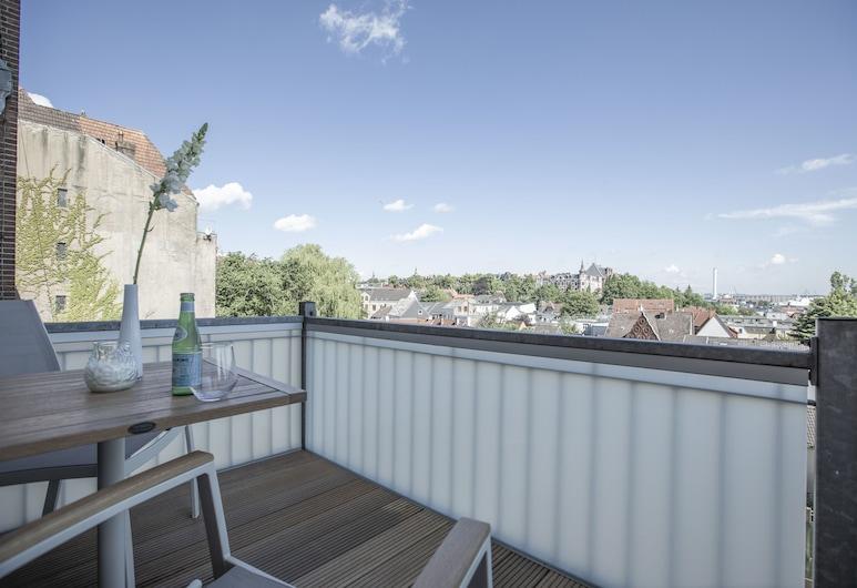 Zimmer FREI! Boardinghouse, Flensburg, Double Room, Shared Bathroom, Harbor View (Nr. 7), Balcony