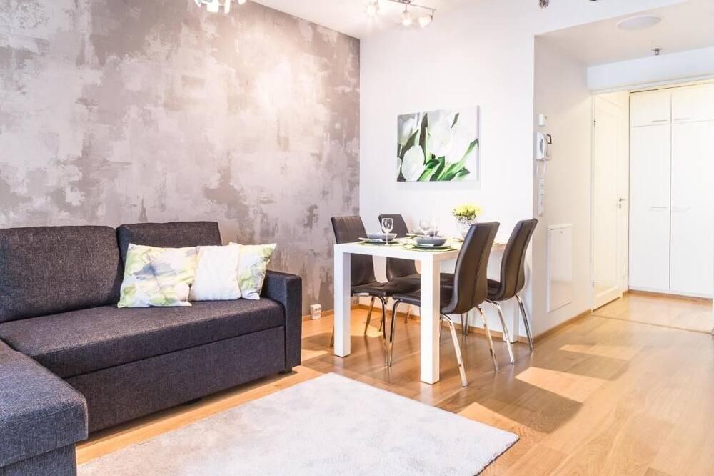 Apartment, 1 Schlafzimmer, Balkon - Wohnbereich