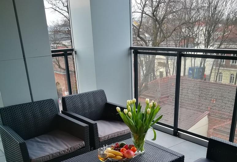 Nova Apartments Rakowicka, Krokuva, Liukso klasės apartamentai, 2 miegamieji, Terasa / vidinis kiemas