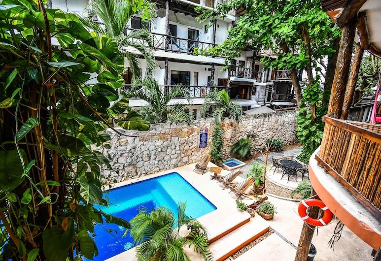 Casa Freud, Playa del Carmen, Romantisk lägenhet, Balkongutsikt