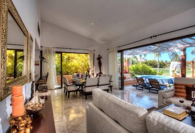 Villa La Magdalena, Punta de Mita, Villa clásica, 4 habitaciones, Sala de estar