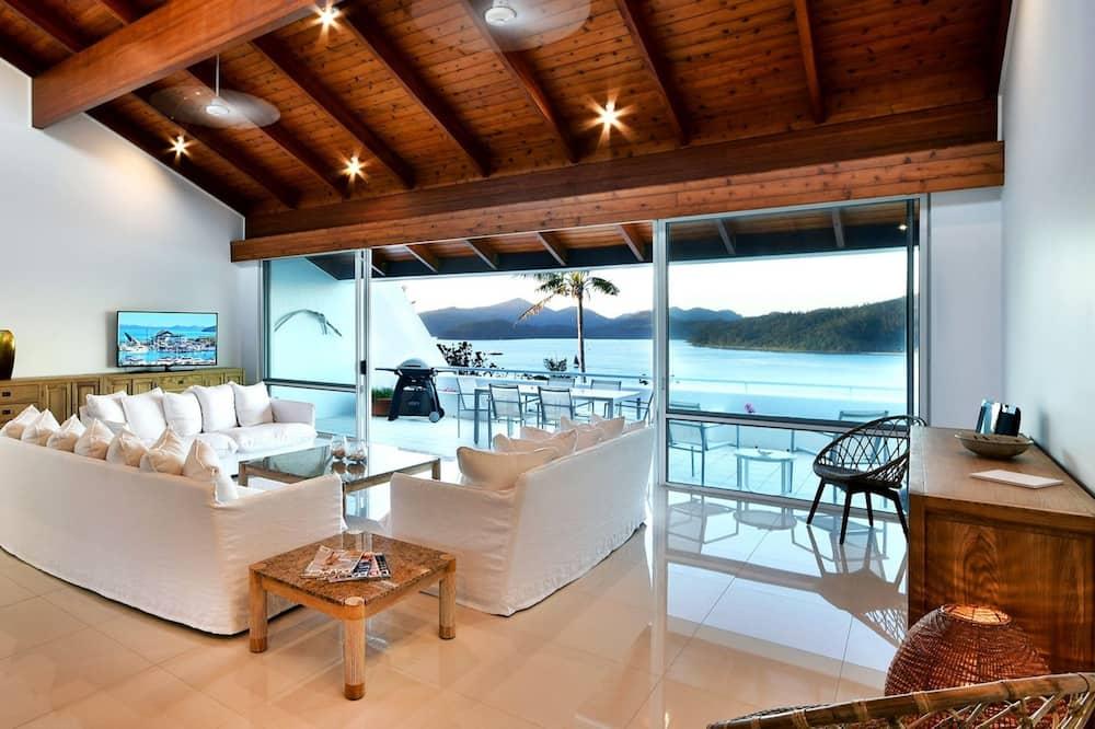 Departamento, 2 habitaciones, 2 baños, vista al mar - Sala de estar