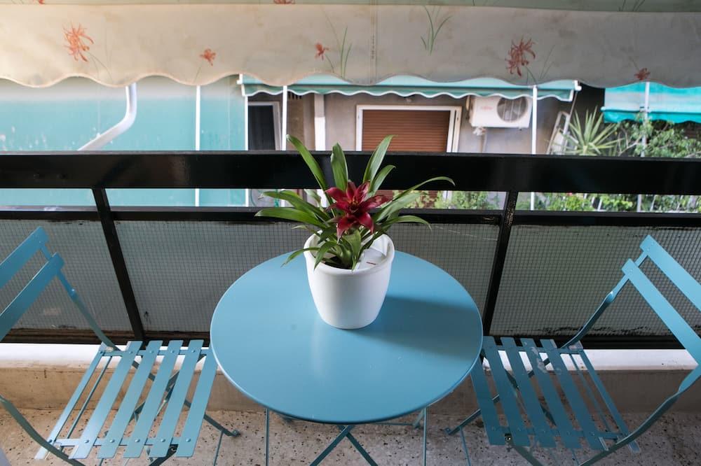Departamento urbano, 1 cama doble con sofá cama, balcón, vista a la ciudad - Terraza o patio