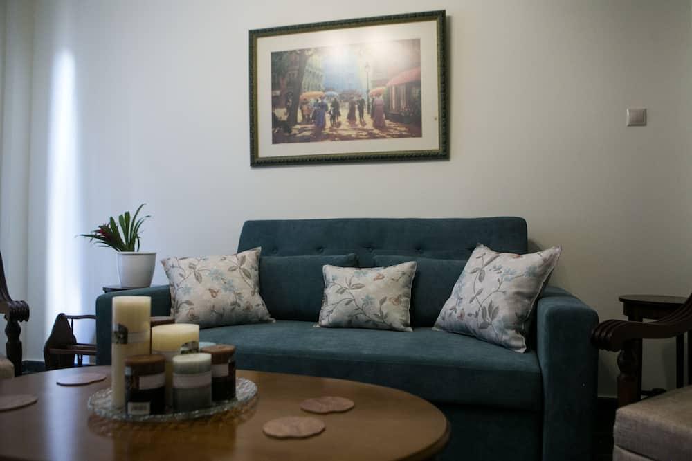 Departamento urbano, 1 cama doble con sofá cama, balcón, vista a la ciudad - Sala de estar