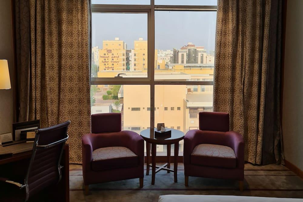 Pagerinto tipo dvivietis kambarys (2 viengulės lovos) - Vaizdas į miestą