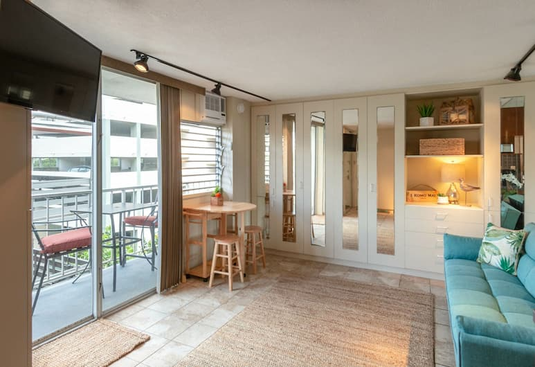 루어스 스트리트 - 스위트 401, 호놀룰루, 콘도, 침실 1개, 거실 공간