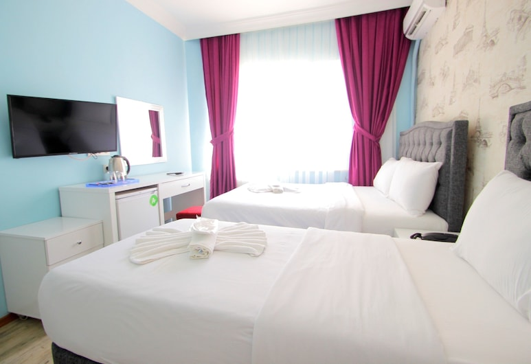 Grand FM Hotel, Istanbul, Basic Triple Room, City View, Guest Room