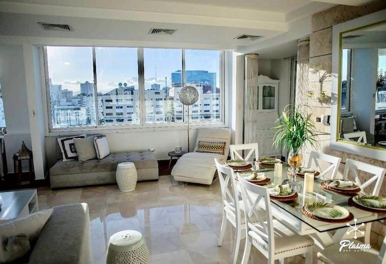 2BR Apt Naco at Torre Kensington by ASVR, Santo Domingo, Dzīvokļnumurs, divas guļamistabas (Jacuzzi), Numura ēdamzona