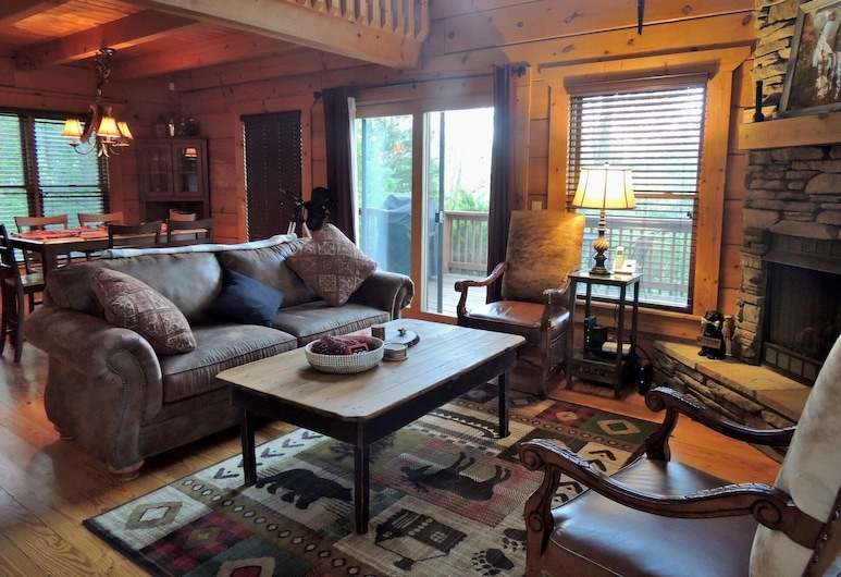 Southern View - 2 Br Cabin, Lake Lure, Cabin, 2 Bedrooms, Living Room