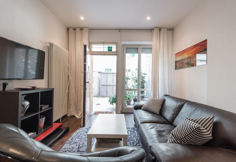 Art Gallery Apartment in Florence, Florencia, Apartmán, 1 spálňa, Obývačka