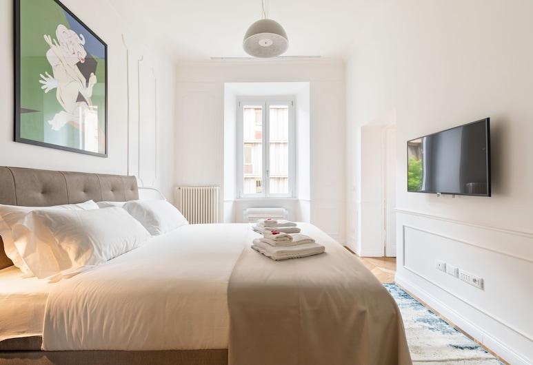 Luxury Apartments Piazza Cavour, Róma, Deluxe apartman, 1 hálószobával, kilátással a városra, Szoba