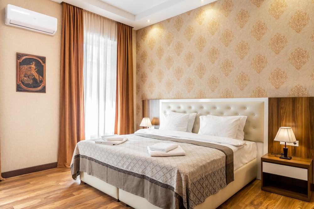 Deluxe-Doppel- oder -Zweibettzimmer, Stadtblick - Wohnbereich