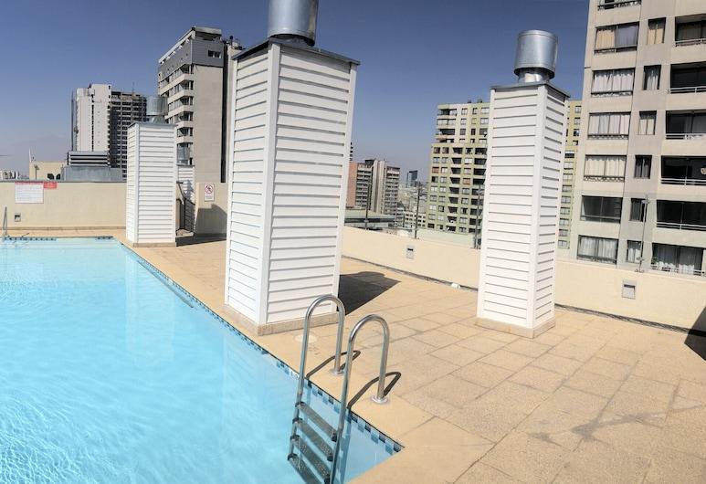 Bello Departamento Catedral, Santiago, Vonkajší bazén