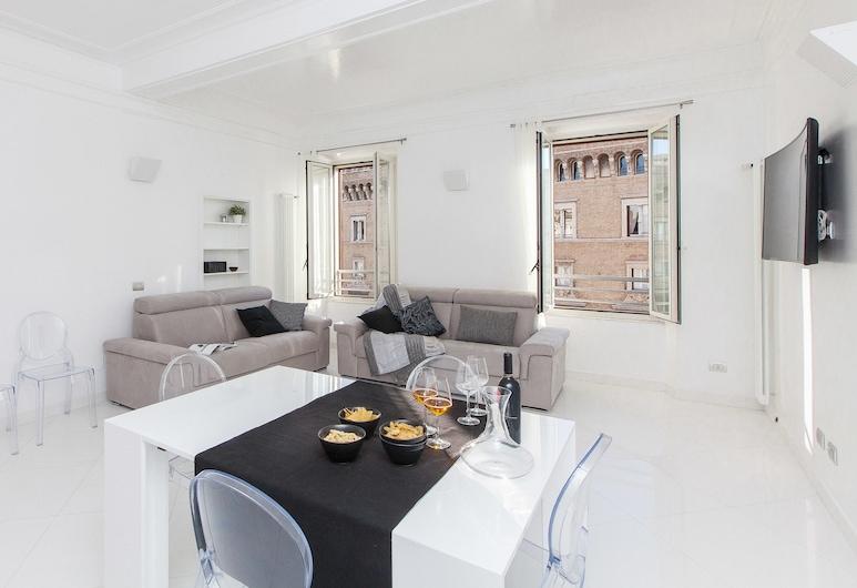 威尼斯廣場景觀奢華公寓 - 羅馬出租屋酒店, Rome, 公寓, 客廳