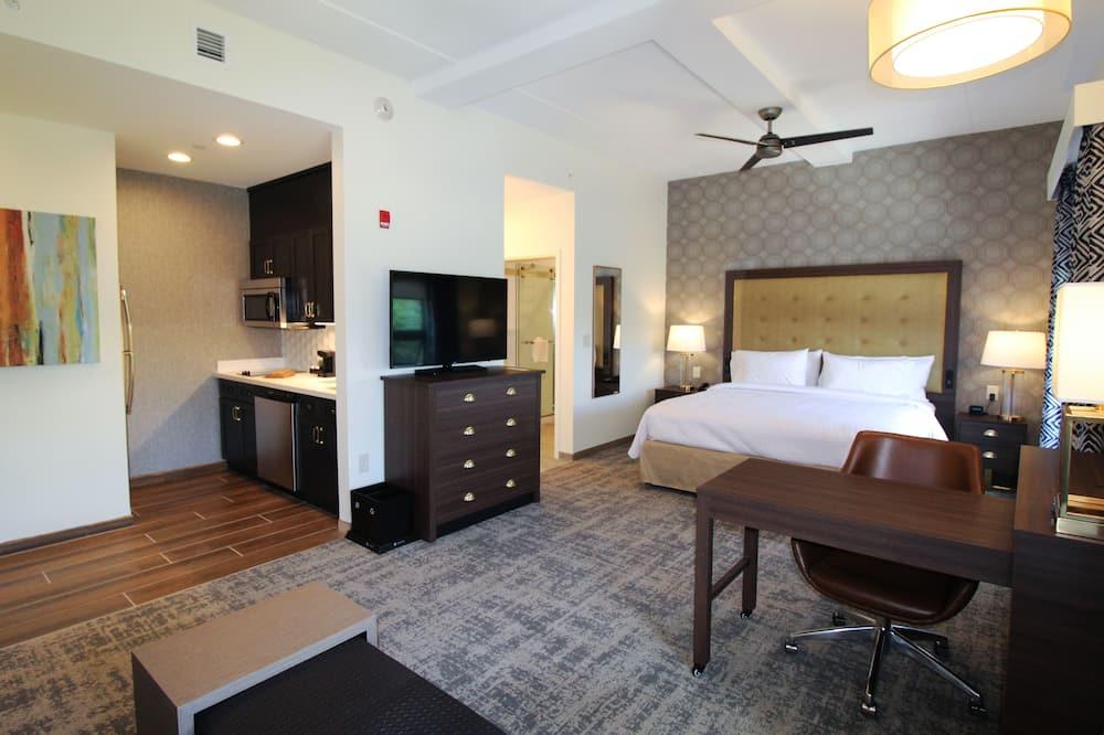 Студия-люкс, 1 двуспальная кровать «Кинг-сайз», для некурящих - Гостиная