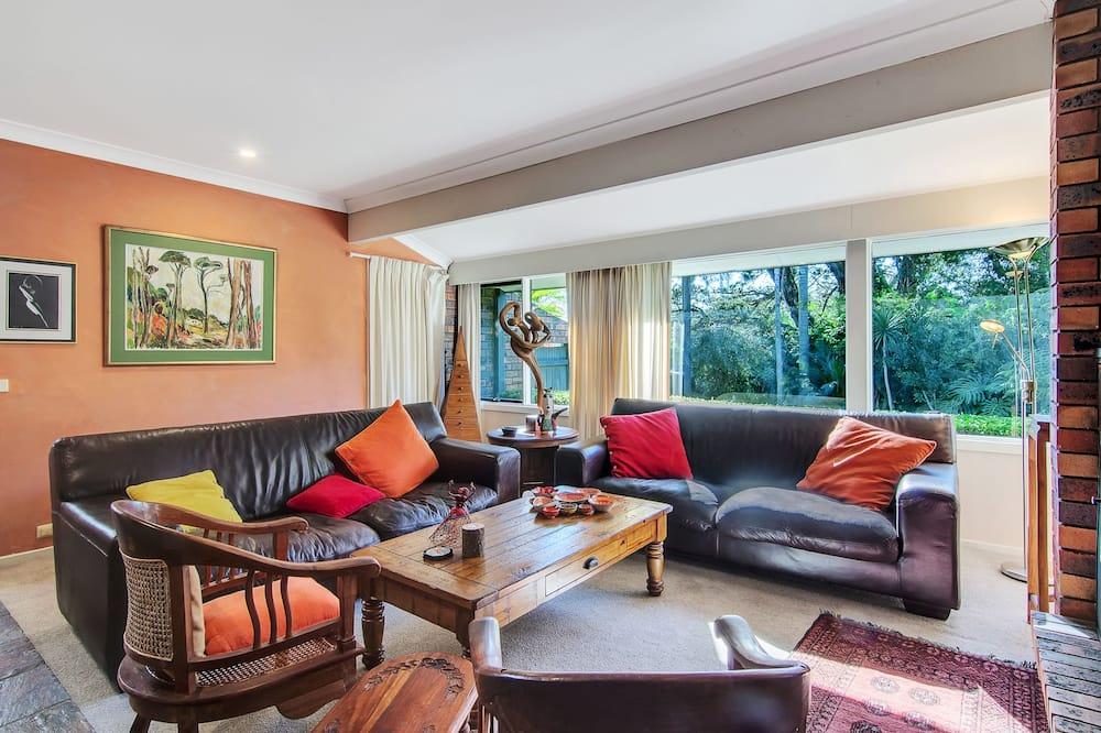 Deluxe-Haus, 3Schlafzimmer, 2 Bäder, Gartenblick - Wohnbereich