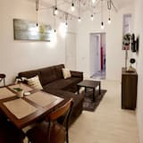 Paaugstināta komforta dzīvokļnumurs, divas guļamistabas, skats uz dārzu - Dzīvojamā istaba