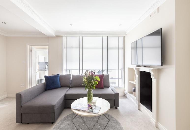 貝爾格萊維亞優雅雙人房酒店, 倫敦, 奢華公寓, 1 間臥室, 客廳