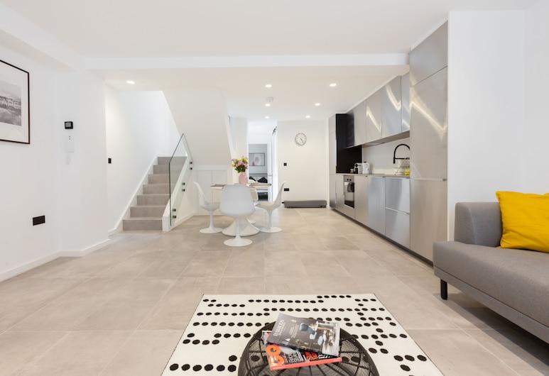 3 房之家附露台住宅酒店, 倫敦, 奢華公寓, 3 間臥室, 客廳