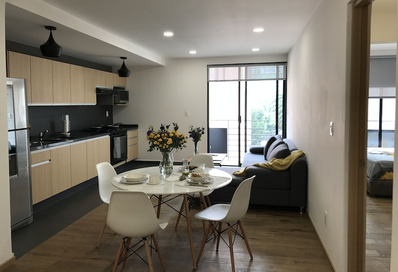 Amazing Apartment in Reforma, Mexico City, Living Area