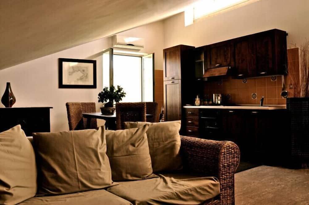 Apartamento Familiar, 2 Quartos - Área de Estar