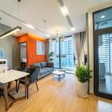 City apartman, 1 hálószobával - Nappali