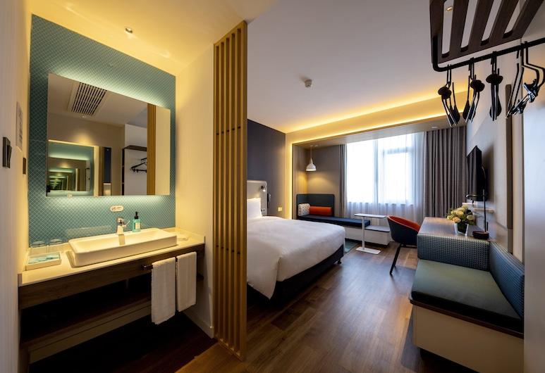 上海嘉定新城智選假日酒店, 上海市, 高級客房, 1 張特大雙人床, 非吸煙房, 客房
