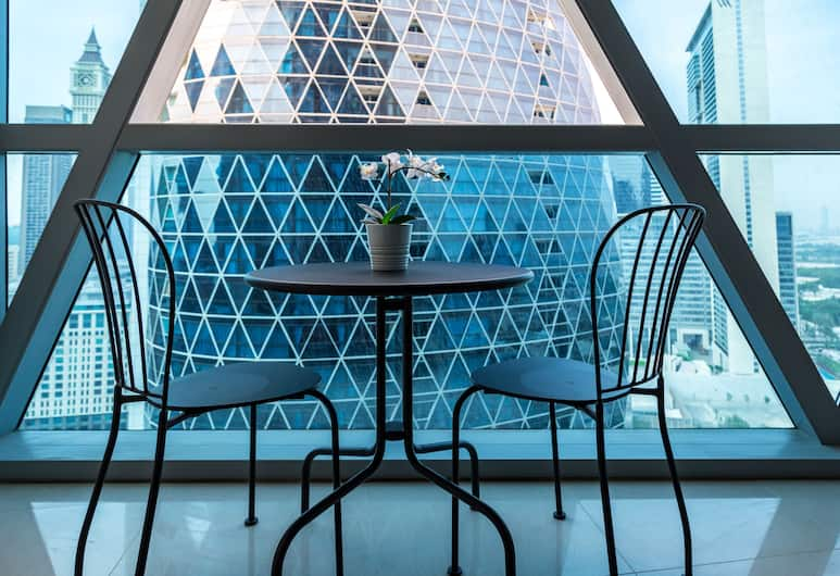 하이게스츠 베이케이션 홈 - 파크 타워, 두바이, 익스클루시브 아파트, 발코니