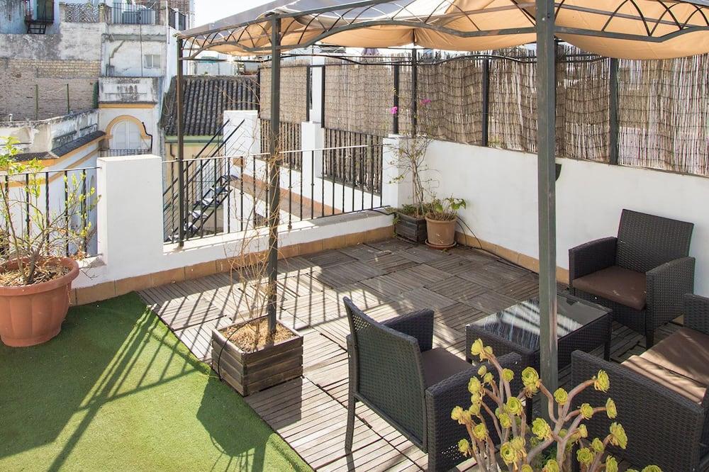 Huoneisto, 2 makuuhuonetta, Terassi - Terassi/patio