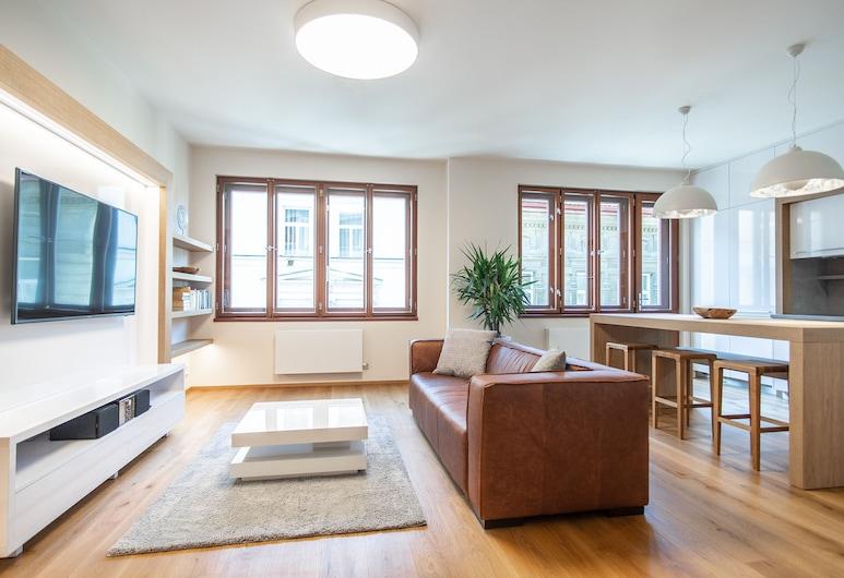 Luxurious and Quiet Apartment near Wenceslas Square, Prag, Apart Daire, 1 Tek Kişilik Yatak (Pricna 8), Oturma Odası
