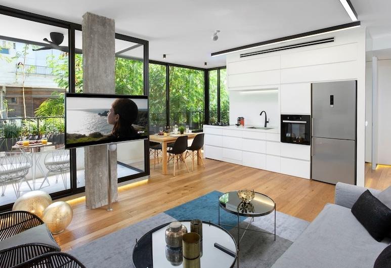 Comfortable 2BR Hovevei Tsiyon Holyguest, Tel Aviv, Apartmán typu Comfort, Obývací prostor